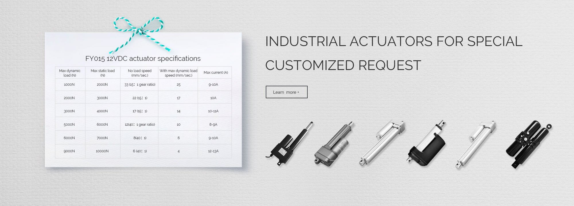 industrial actuators for special customized request