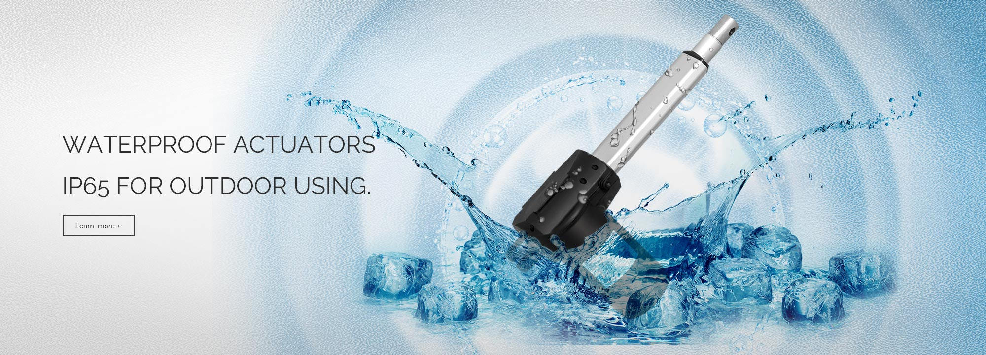waterproof actuators ip65 for outdoor using